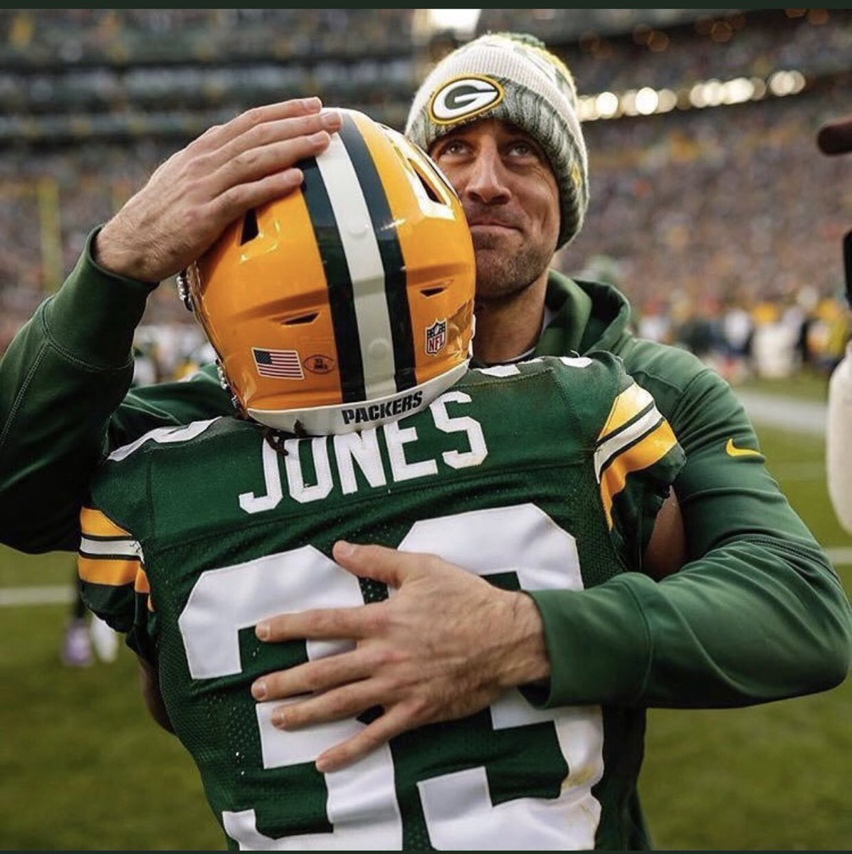 Two notable Packers' Aaron birthdays today: Aaron Rodgers turns 37 years old and Aaron Jones turns 26 years old.