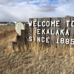 Image for the Tweet beginning: We're in Ekalaka, Montana this