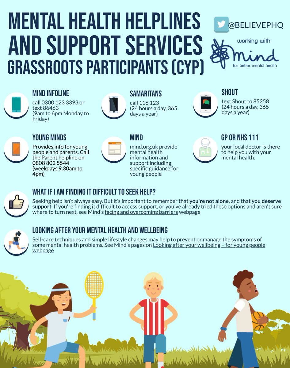 How can you support young people in grassroots sports and activities? with @BelievePHQ & @MindCharity