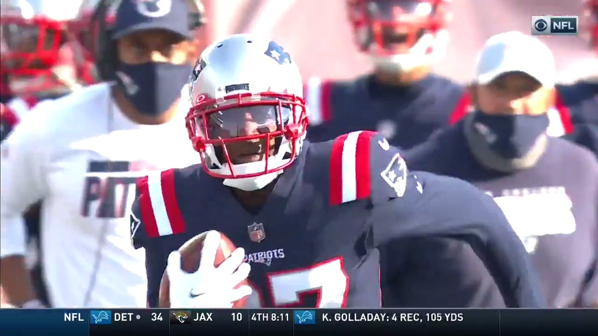J.C. Jackson's making his case for DPOY: 🏈 6 INTs (5 straight games w/ an INT) 🏈 11 pass deflections 🏈 3 fumble recoveries   📺: #NEvsLAC -- Sunday 4:25pm PT on CBS 📱: NFL app // Yahoo Sports app