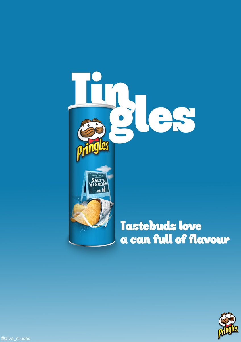 Tingles @OneMinuteBriefs poster to bring to life #ACanFullOfFlavour with @Pringles_UK #creative #advertising #copywriting