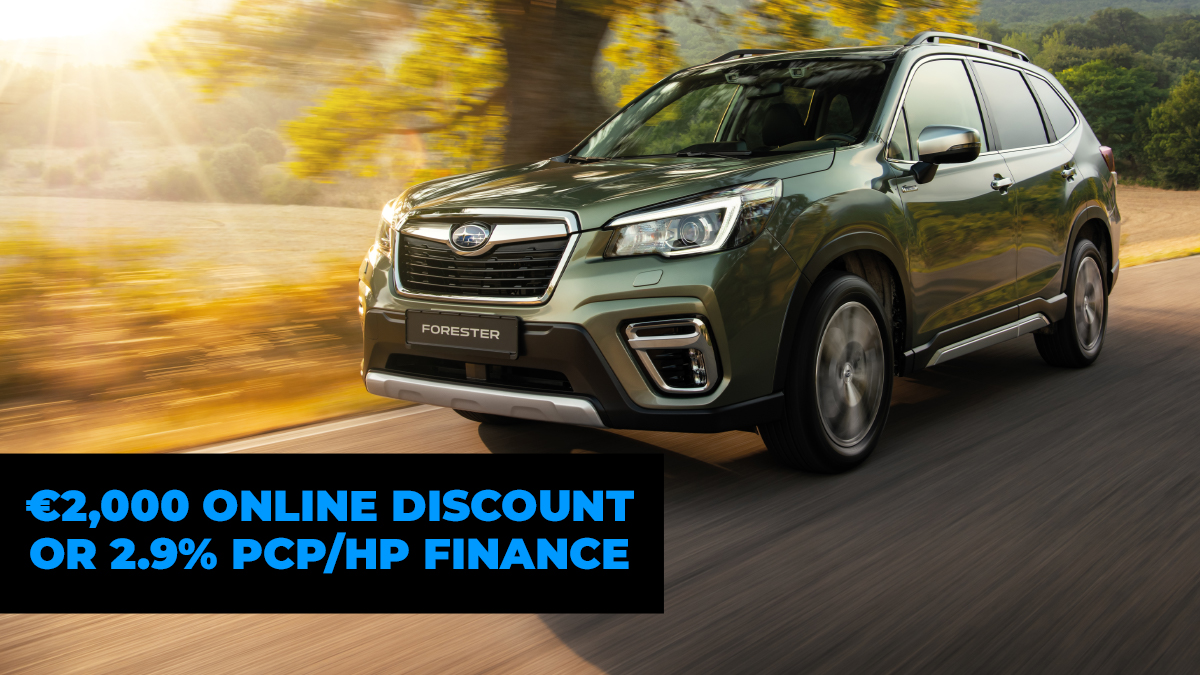 To celebrate the launch of our new website, we are now offering 2.9% PCP/HP Finance OR a €2,000 online discount across the Subaru range!   Click here to see our offers - https://t.co/iIcAr9LBq0 https://t.co/mcteu9SWyr