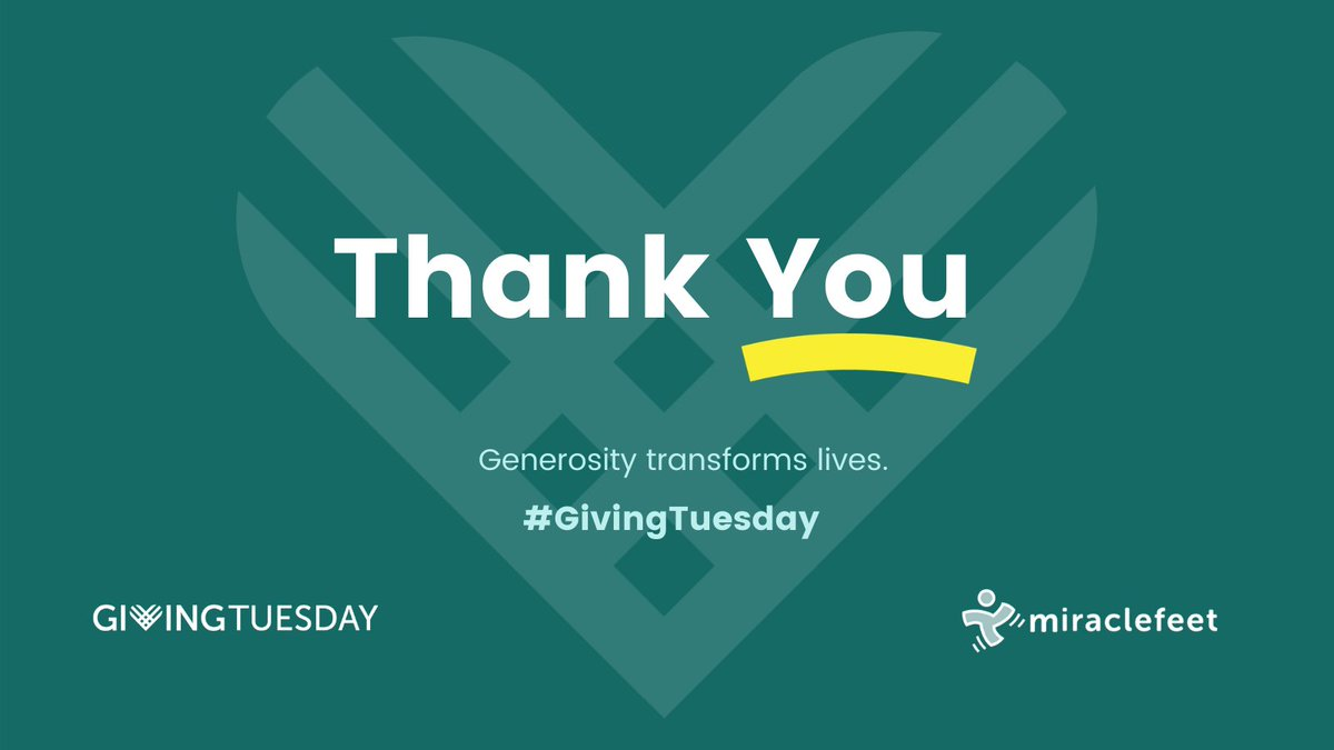 Your generosity on #GivingTuesday proved that giving is resilient and generosity perseveres. Thank you for your vital support! #generositywins #clubfoot #aproblemwecansolve #foreverychild #leavenoonebehind #mobilitymatters #changinglives #PonsetiMethod #clubfootjourney