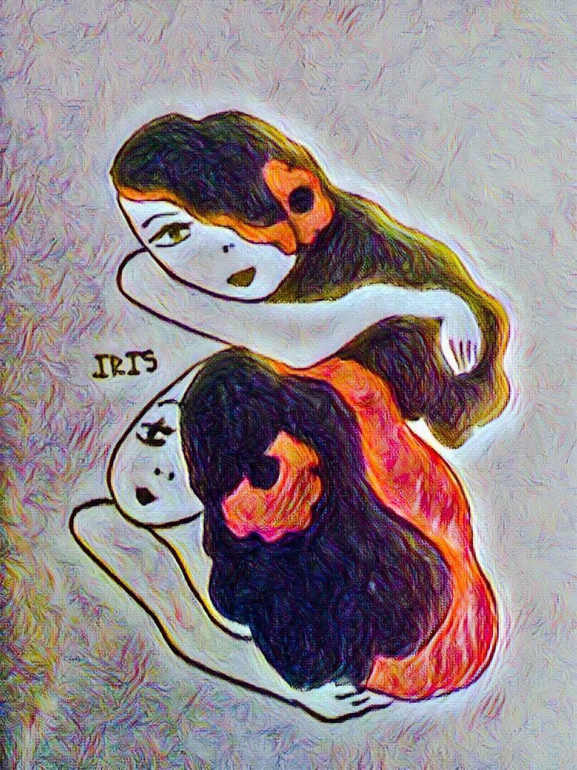 Twins 👯‍♀️ painted by @IRISUNART #irisunart #art #artistic #artist #arte #artsy #arts #painting #paintings #paint #watercolor #watercolors #instartist #instalove #instalike #galleryart #onlinegallery #fineart