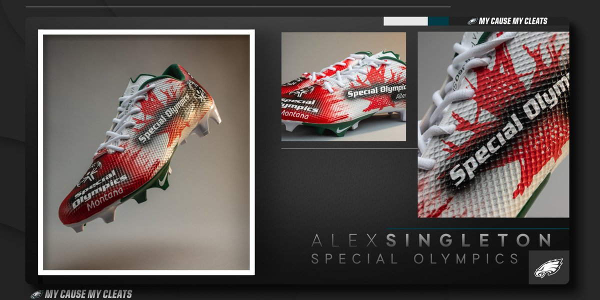 The second-best athlete in the family by his own admission, @alexsingleton49 plays with a smile for his sister Ashley and @SpecialOlympics.  #MyCauseMyCleats
