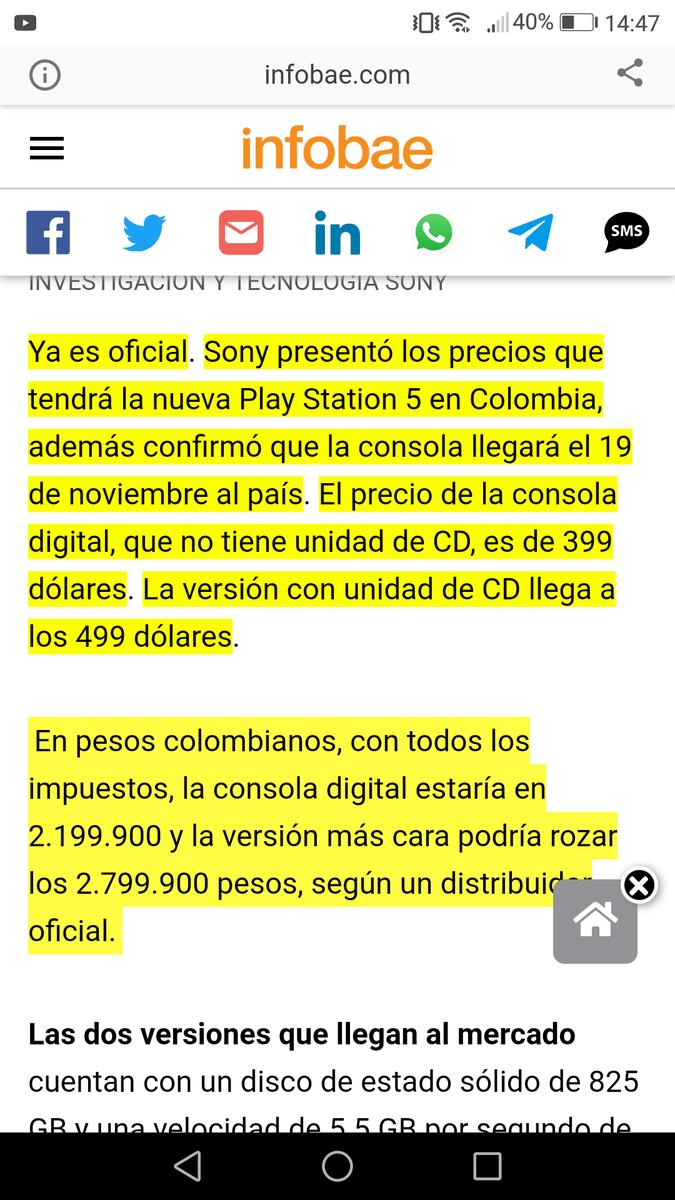Primero llegó el PS5 a colombia, que la vacuna para el covid19. Y el primero con fecha fija y todo pero algunos dirán no somos tercermundistas. https://t.co/BXJheZXRGh