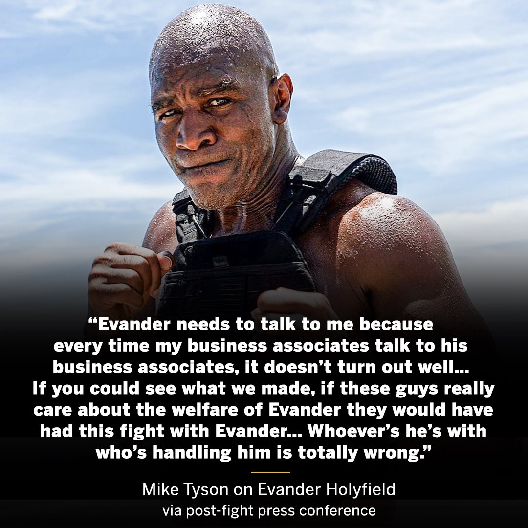 Mike Tyson wants to make a deal directly with Evander Holyfield 🤝