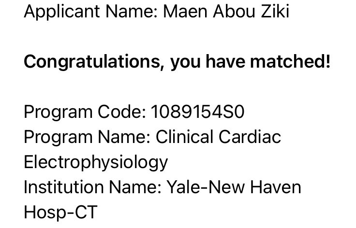 Very excited to have matched at Yale for advanced training in EP! 2021 is off to a good start ❤️⚡️ https://t.co/p3OnqlatKA