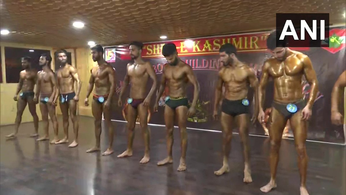 "Jammu and Kashmir: Indian Army organised ""Sher-e-Kashmir"", a bodybuilding competition in Srinagar, yesterday.   Praveen Kumar, Commanding Officer (CO) of 20 Rashtriya Rifles (RR) said, ""More than 50 young bodybuilders participated in the competition."""