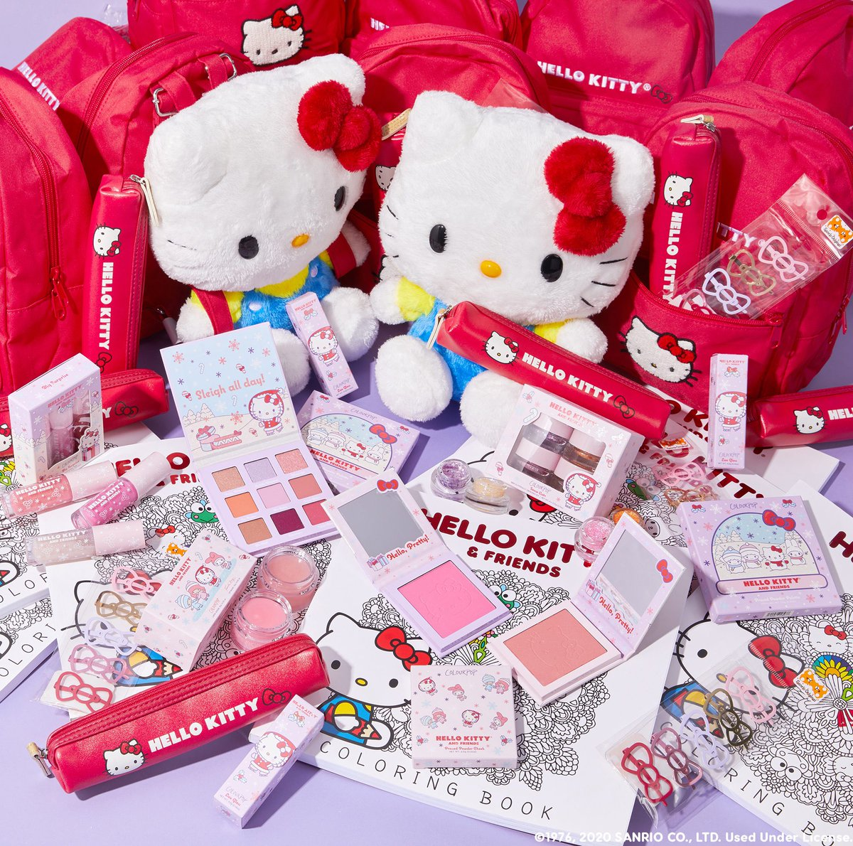 ✨HELLO KITTY AND FRIENDS X COLOURPOP ✨   Let's celebrate our second @hellokitty collaboration with a MAJOR #giveaway! Win a the entire collection + a backpack, plush, pencil case, and MORE!  To Enter: ✨Like & RT ✨Follow @colourpopco ✨reply w/ #hellokittyxcolourpop