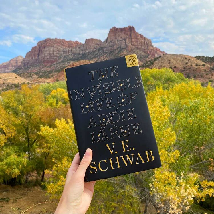 From Zion National Park in Utah, take a look at today's #GoodreadsWithAView!  📸  : londonbookworm_ on Instagram 📚  : @veschwab