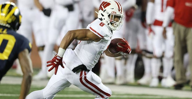 "A quiet, but confident freshman, the #Badgers see big things ahead for tailback Jalen Berger.  ""He's only going to continue to grow and that's scary."""