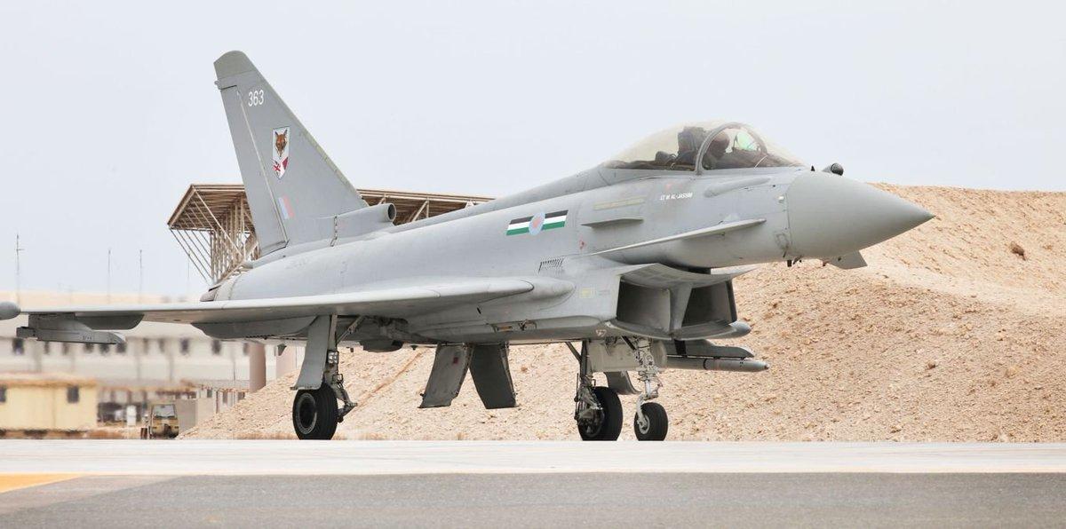 Varios #Typhoon del Nº12 Squadron #RAF han volado hasta #Qatar, para el ejercicio Epic Skies, donde serán volados también por pilotos qataries antes de que reciban los suyos  #RoyalAirForce @RoyalAirForce @REjercitos