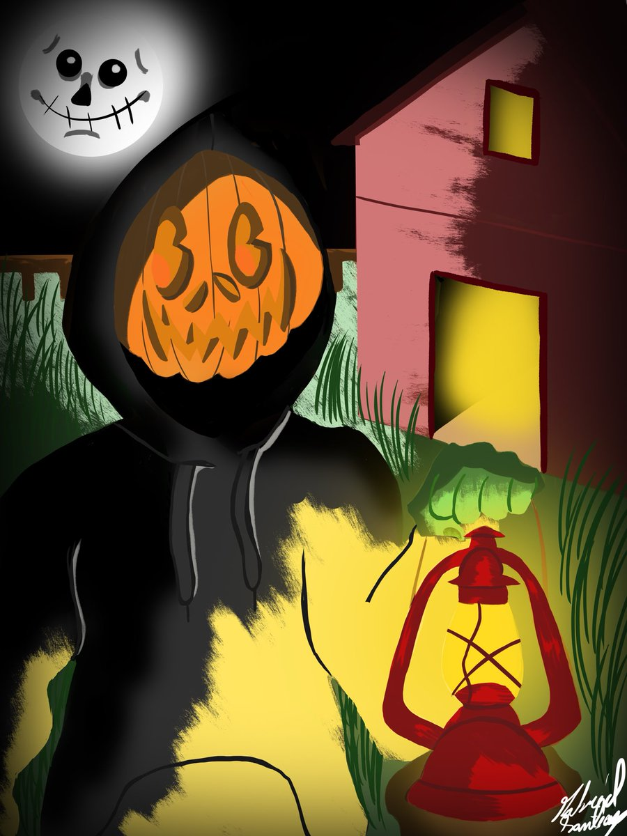 A Jack O Lantern I did for Halloween. In the end I turned better than I expected.  #art #ArtistOnTwitter #artwork #arts #artist #artistsoninstagram #Halloween2020 #halloween #jackolantern #oillamp #digitaldrawing #digitalart #digitalcolor #digitalillustration #painting https://t.co/R8ScqhHJv5