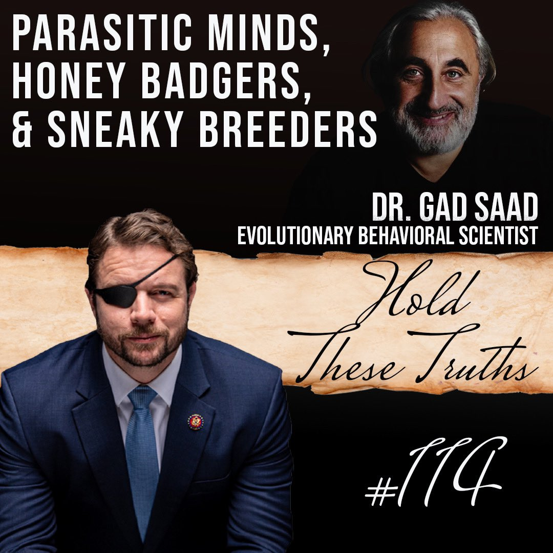 New episode  Dr. @GadSaad joins me for a lively discussion about the psychological roots of woke progressivism, how to become antifragile, and many more fascinating insights into human behavior.  DOWNLOAD: https://t.co/fApeqXkJwm https://t.co/m9GZ9WOXqd