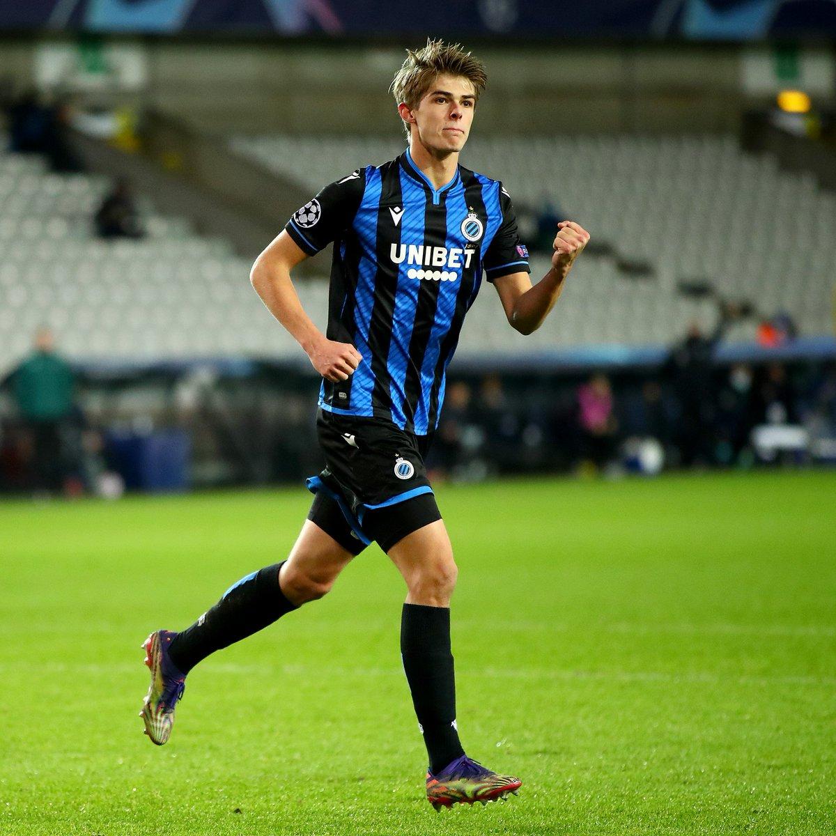 "UEFA Champions League on Twitter: ""🔵⚫️ Club Brugge wonderkid Charles De  Ketelaere on target ⚽️ #UCL… """
