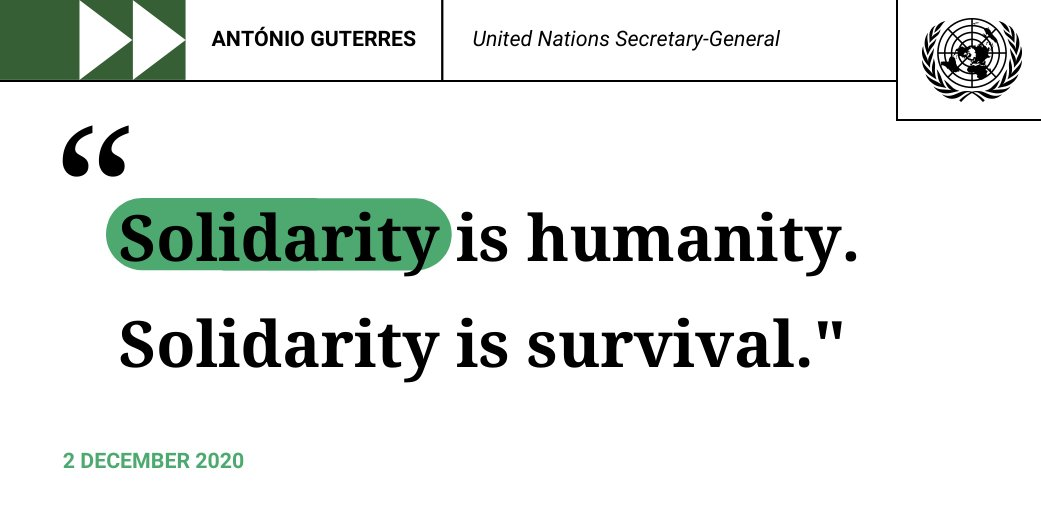 Now is the time to transform humankind's relationship with the natural world – and with each other. And we must do so together. Solidarity is humanity. Solidarity is survival. -- @antonioguterres on the state of the planet. bit.ly/36vSOFt #ClimateAction