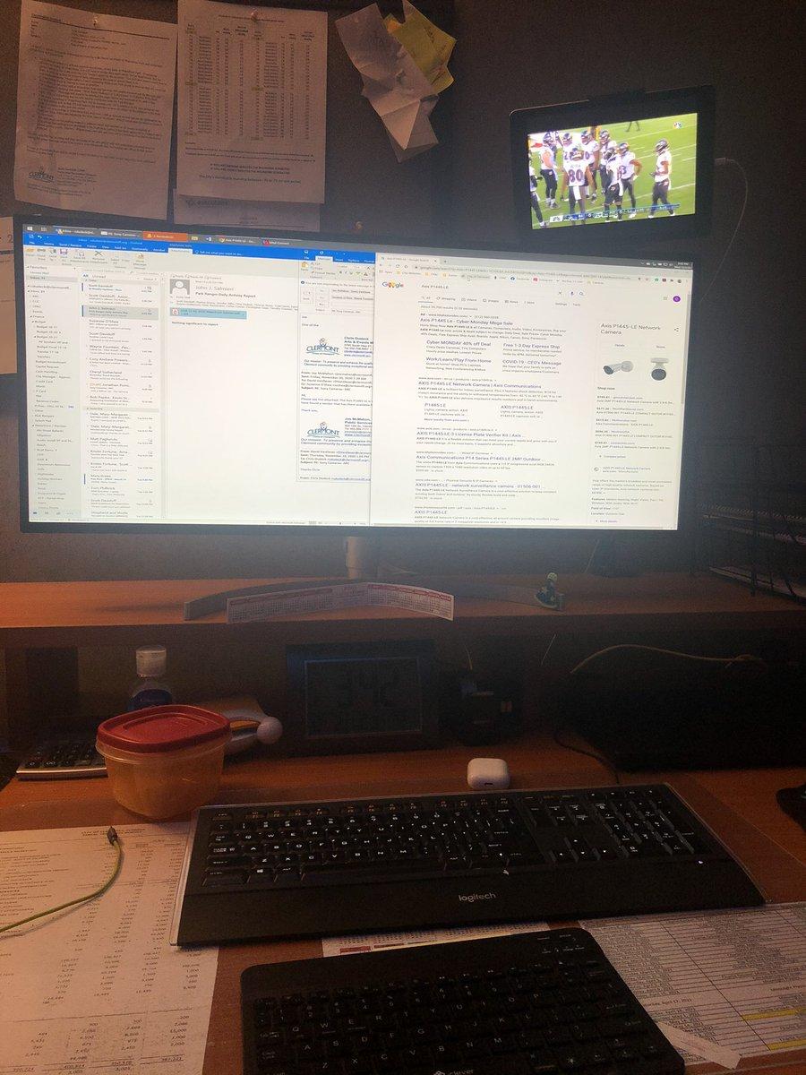 Multitasking at work. Let's go Ravens! #thanksgivingfootball #NFL