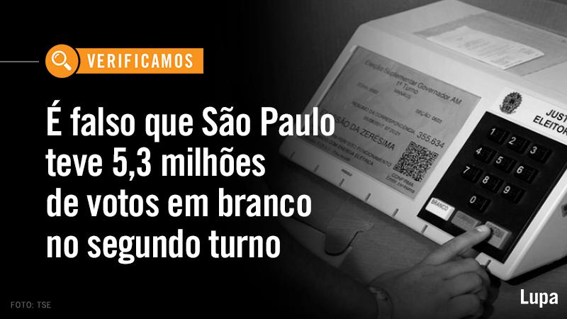 Circula nas redes sociais que 61,09% do eleitorado paulistano não votou no segundo turno das eleições de 2020. Leia: https://t.co/4G4fNkqDMR. #AgênciaLupa #eleicoes2020 #sp https://t.co/2RdCAVKcvA