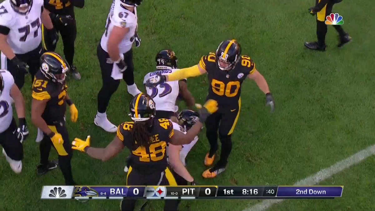 Don't get in the middle of @_TJWatt and @Bud_Dupree's celly okay 😂  #HereWeGo | NBC