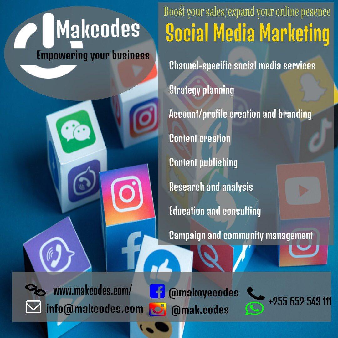 Socia Media Management Services    Email: info@makcodes.com.                #WebsiteDesign #Appdevelopers #SocialMediaMarketing #ITConsultant #DigitalMarketing #LogoDesigners #Branding #SearchEngineOptimization #ContentWriting #SocialMediaMagement