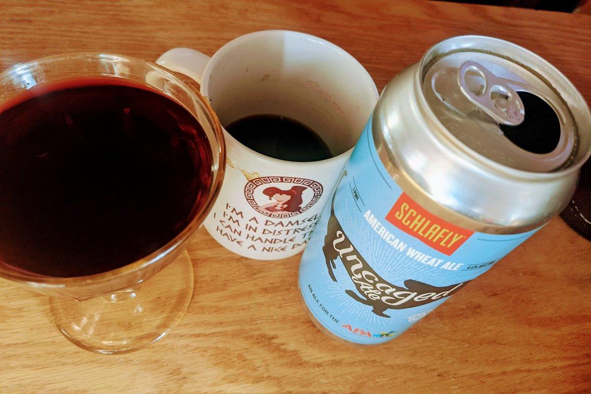 Today's Holy Trinity: Wine, Coffee and Local Beer!!!!! #godjesusholyspirit #booze https://t.co/n1xOBenN9w