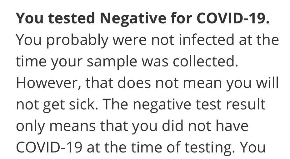 JoblessGarrett - Finally. After Many weeks of being positive we are finally negative. Tested twice back to back to confirm 🔥 Still super tired and lack sense of smell though 😓