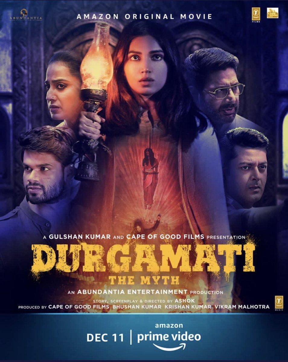 Poster of #Durgamati  #DurgamatiOnPrime Dec 11th  @PrimeVideoIN @bhumipednekar  @ArshadWarsi @akshaykumar @ashokdirector2 #CapeOfGoodFilms #BhushanKumar #KrishanKumar @vikramix @Abundantia_Ent @TSeries @Jisshusengupta @MahieGillOnline @KapadiaKaran