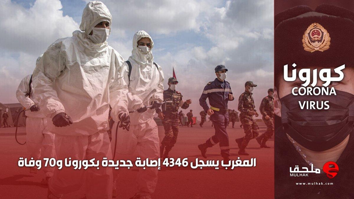 #المغرب يسجل 4346 إصابة جديدة بـ #كورونا و70 وفاة  #ملحق