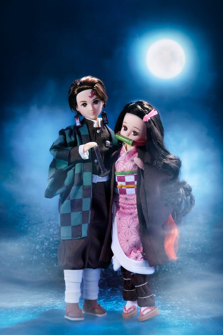 「鬼滅の刃」禰豆子イメージしたリカちゃん人形、はるとくんは炭治郎に