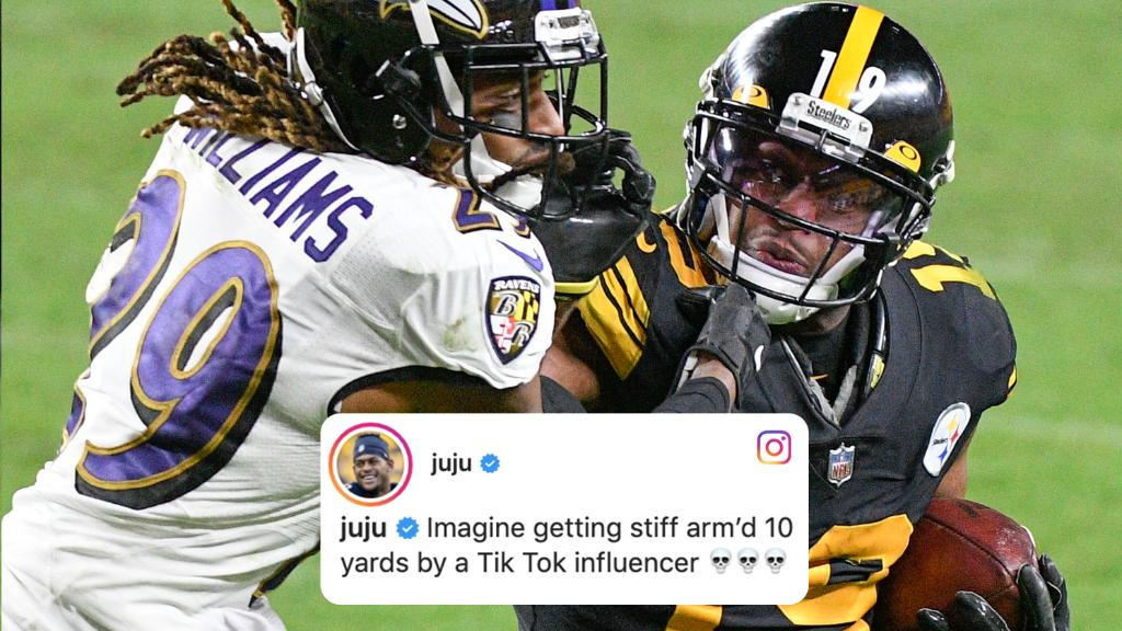 No chill from JuJu here 😳 https://t.co/pbjowiotZz