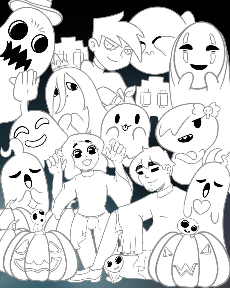 Tuvo que pasar un mes para continuar el dibujo de halloween. Nada mejor que continuarlo en navidad (?) #sketch #WIP #illustration #Halloween2020 #fanarts #covers https://t.co/NVNA6GxNDe
