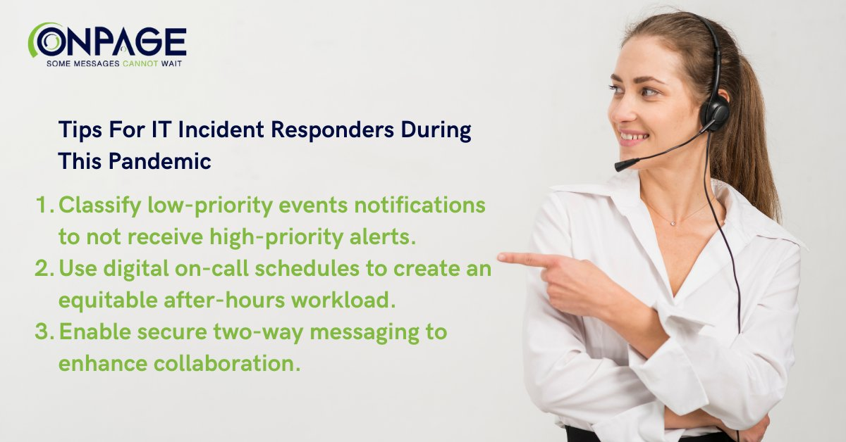#IT #incident responders have been inundated with alerts since the start of the #COVID19 pandemic. Here's 3 tips to combat today's unprecedented times: #scheduling #oncall #holidayshifts #communication #collaboration #technology #pagerreplacement #alertmanagement
