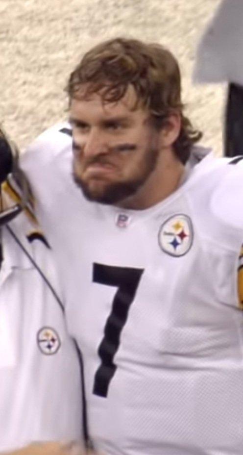 Ben isn't worried. Not at all. #Steelers #SteelersRavens