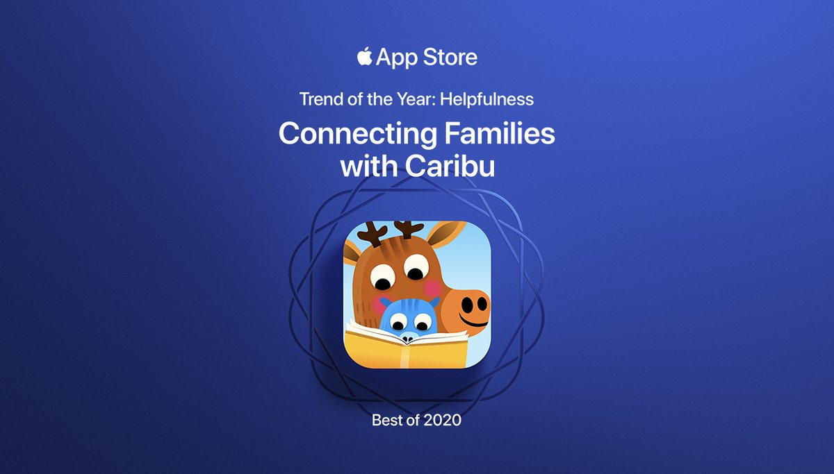 Wow!! @caribu is an App Store Trend of the Year winner! Our family loves this app so much. Learn more at !
