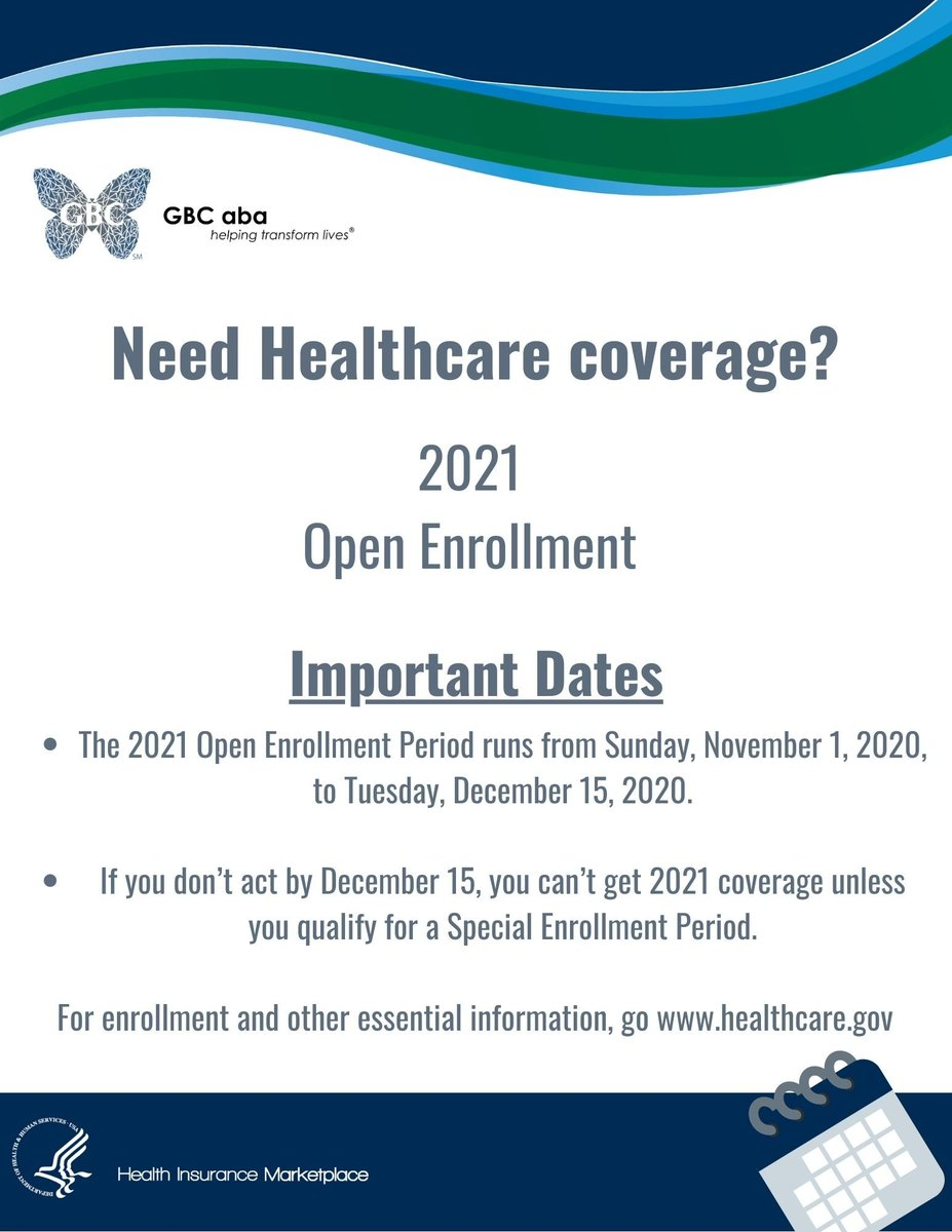#OpenEnrollment ends soon. The application is short, easy and could lead to better coverage and therapy options for your family. #GetCovered #Don'tWait https://t.co/wSIAfOM5QJ