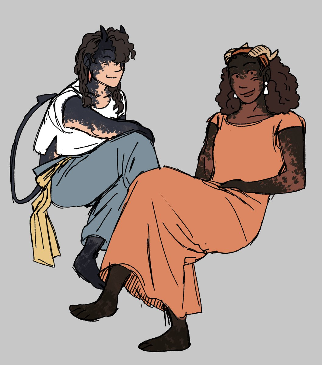 #VisibleNonbinary  Im Izzy and all I draw are little fantasy people