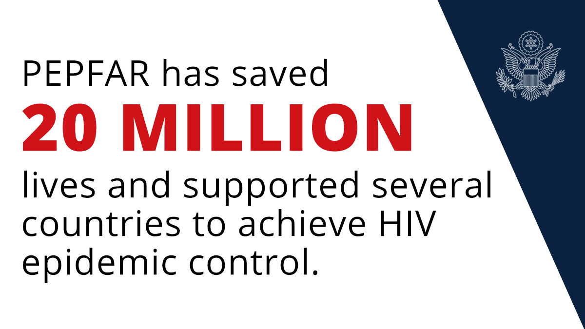 During this week, on#WorldAIDSDay 2020, @PEPFAR announced its latestresultsshowingthat the program has saved 20 million lives, supported severalAfricancountries to reach HIV epidemic control, and strengthened global health security. Learn more:https://t.co/PY6WYTzQcE. https://t.co/kDp8j95o7q