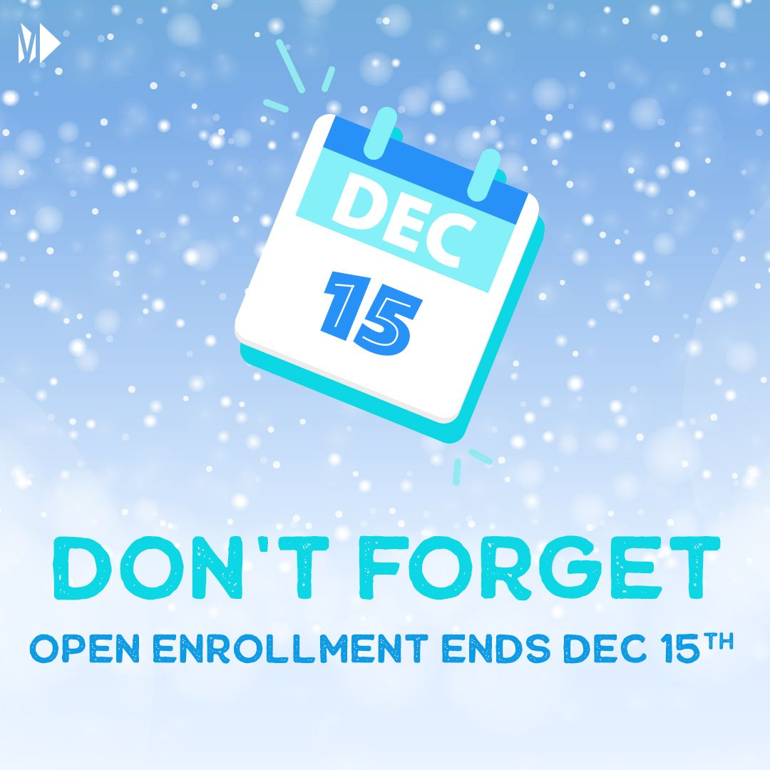 REMINDER: #OpenEnrollment for your 2021 benefits is available until December 15th. Be sure to review your options!   For more check out https://t.co/QvZWiGSmGB https://t.co/pV22vkzOqu