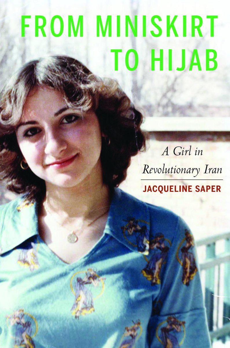 Client News: HUGE congratulations to the author and #MiddleEast analyst Jacqueline Saper, who has been awarded #BookOfTheYear honors by  @chicagowrites. Jacqueline earned the award for her memoir From Miniskirt to Hijab: A Girl in Revolutionary #Iran.