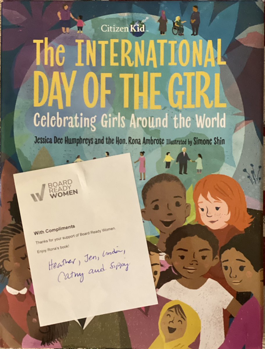 Loving this gift from @board_ready 🙏 Honourable Rona Ambrose, @jessicadeehum & Simon Shin for creating such an impactful book of stories #Dayofthegirl