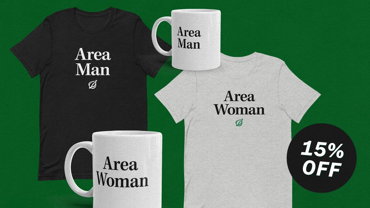 Go ahead and try to fill the infinite void in your soul with merchandise at the Onion Store. Use promo code CYBERWEEK for 15% off