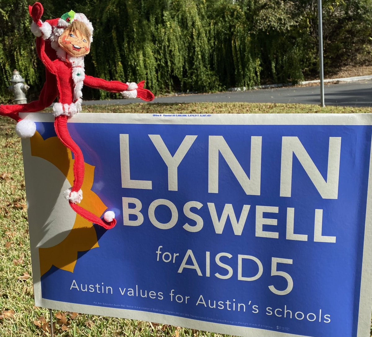 One good thing about runoffs? This campaign sign/holiday mashup. Early voting starts tomorrow. And the elf will know who votes & who sits out.  and #VOTE