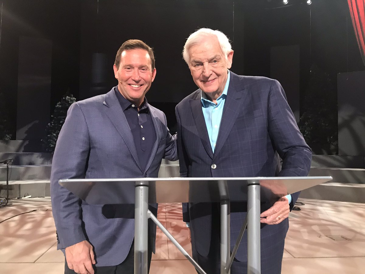 So great seeing @davidjeremiah today. I'm thankful he gave The Garden to his 600 students.