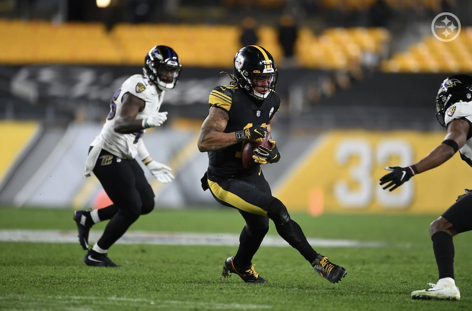 Eleven heaven: Canadian Chase Claypool helps #Steelers in sloppy win over #Ravens    #HereWeGo l #RavensFlock l #NFL