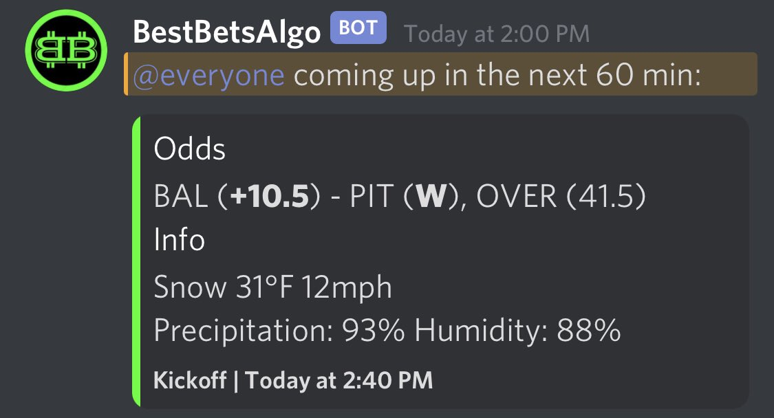 Came away 2 outta 3 for the last game of week 12! #BALvsPIT   We were 30/48 this week and have a solid two week run over 67%!   Link in bio to join our #discord!   #sports #FanDuel #NFL #Pittsburgh #Baltimore #Tennessee #GamblingTwitter