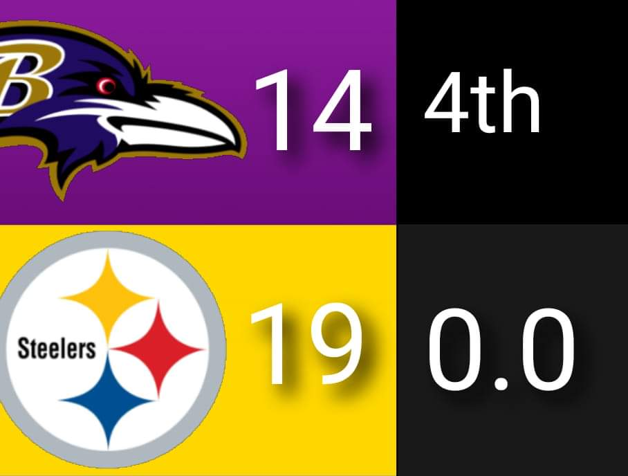 The Pittsburgh Steelers beat the Baltimore Ravens in Pittsburgh today. The Steelers remain unbeaten with the win today. They are now 11 and 0. The Ravens are now 6 and 5. Here's a picture I made with the final score of the game. Hope you all like it. #BALvsPIT