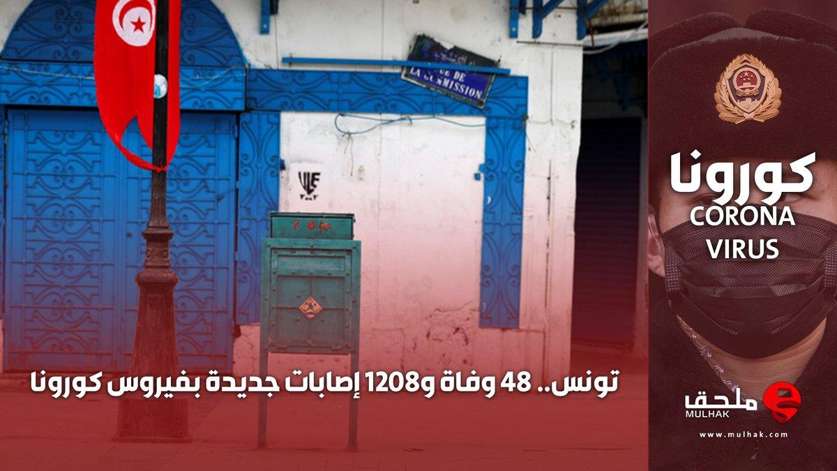 #تونس.. 48 وفاة و1208 إصابات جديدة بفيروس #كورونا  #ملحق