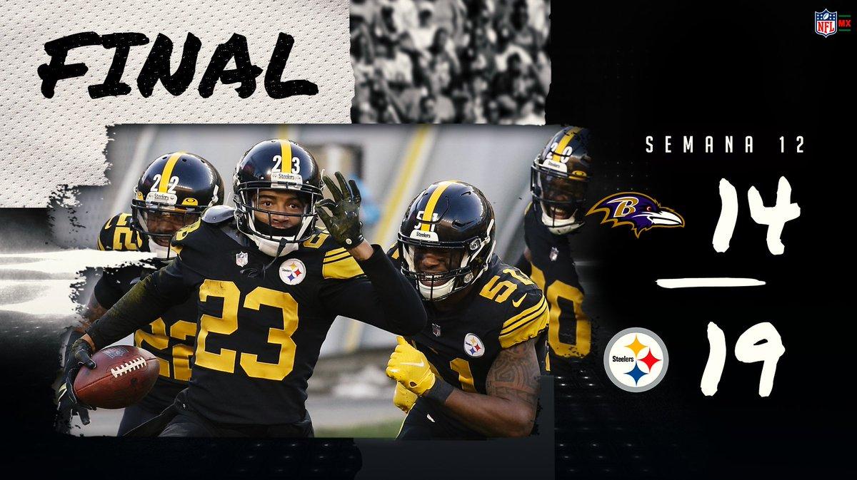 UN DÍA MÁS EN LA OFICINA  ¡Ya son 1️⃣1️⃣ victorias para los #Steelers! Derrotaron a Baltimore, se afianzaron como los #️⃣1️⃣ de la AFC y como líderes de su división.  #HereWeGo  #BALvsPIT