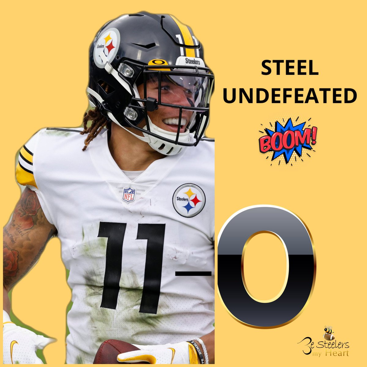 H E L L O 🤣 We Steel Undefeated 👏🏾 Congrats STEELERS‼️-⭕️ #HereWeGo #Steelers .@ChaseClaypool